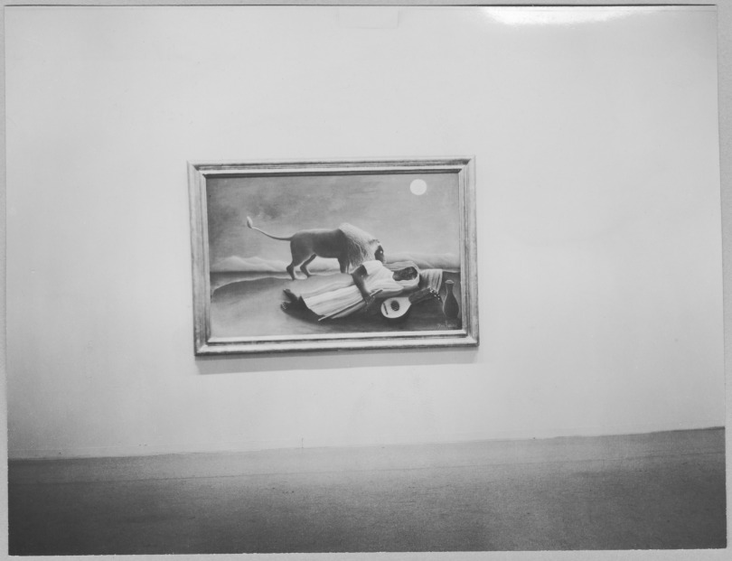 Photograph of Rousseau installed at MoMA